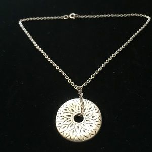 NWOT Premier Designs Silver Pendant Necklace
